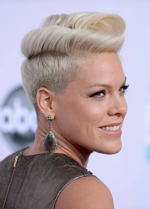 LOS ANGELES, CA - NOVEMBER 18:  Singer Pink attends the 40th American Music Awards held at Nokia Theatre L.A. Live on November 18, 2012 in Los Angeles, California.  (Photo by Jason Merritt/Getty Images)