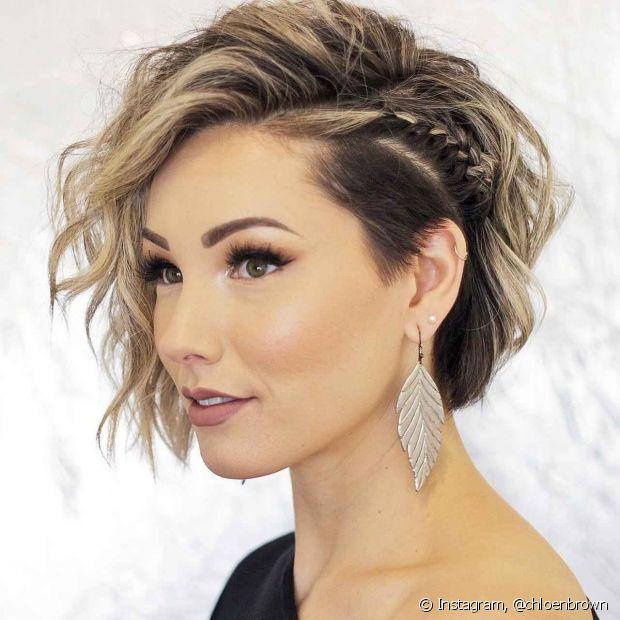 Penteados para festas com cabelo solto 2020